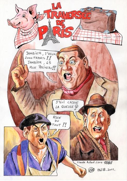 Bourvil, Louis de Funès, Jean Gabin by PhilLP